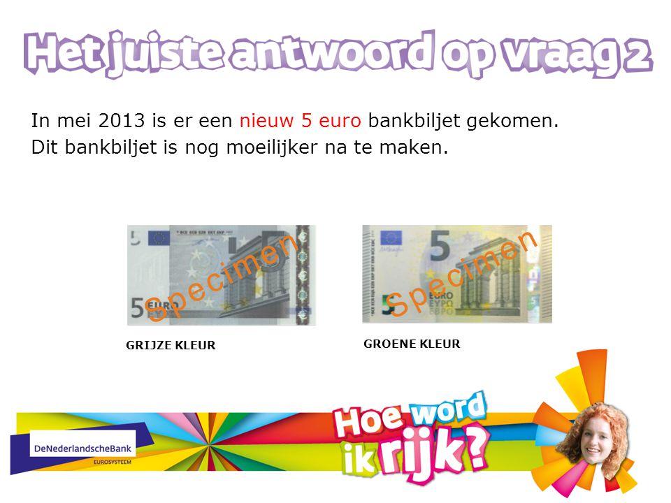 In mei 2013 is er een nieuw 5 euro bankbiljet gekomen.