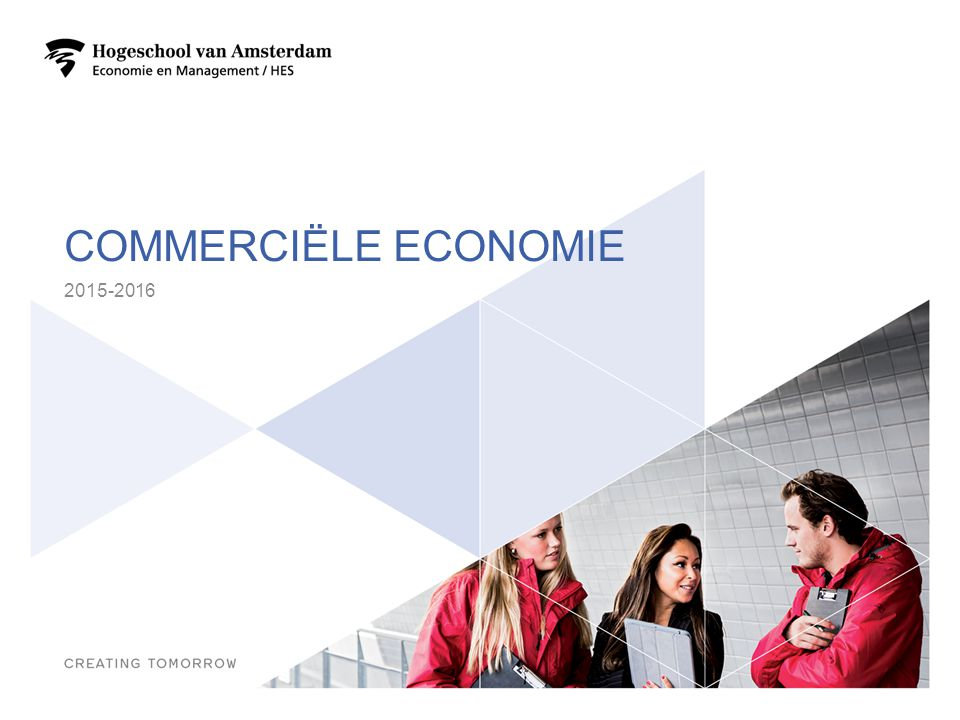 COMMERCIËLE ECONOMIE 2015-2016