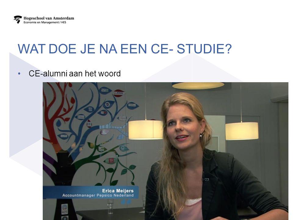 WAT DOE JE NA EEN CE- STUDIE? CE-alumni aan het woord