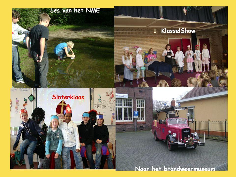 Les van het NME Klasse!Show Sinterklaas Naar het brandweermuseum