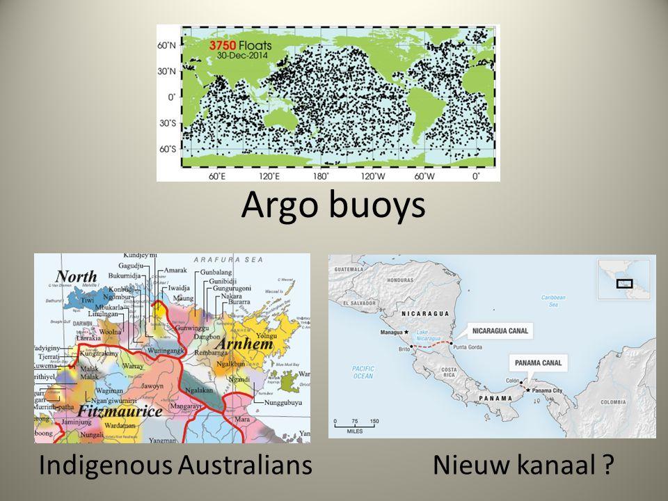 Argo buoys Indigenous Australians Nieuw kanaal ?
