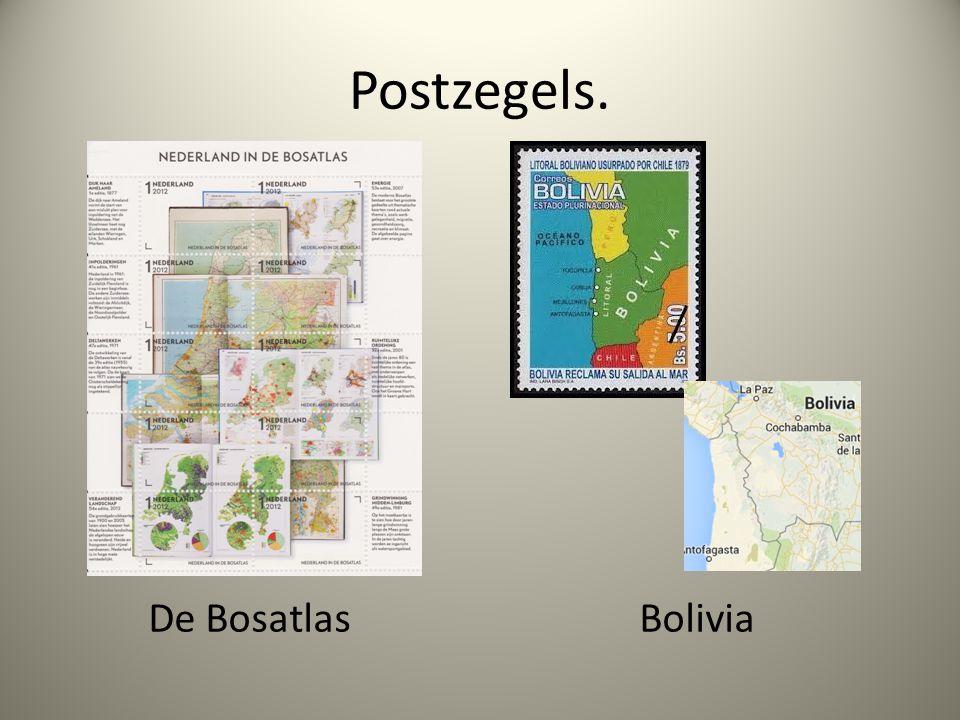 Postzegels. De Bosatlas Bolivia