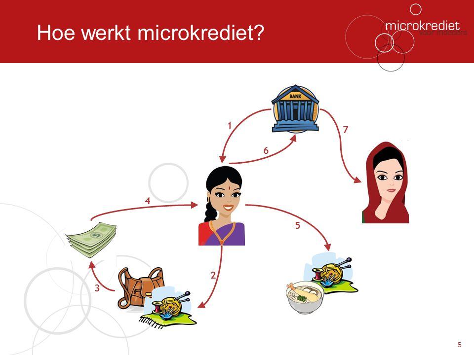 Hoe werkt microkrediet? 5 1 2 3 4 5 6 7