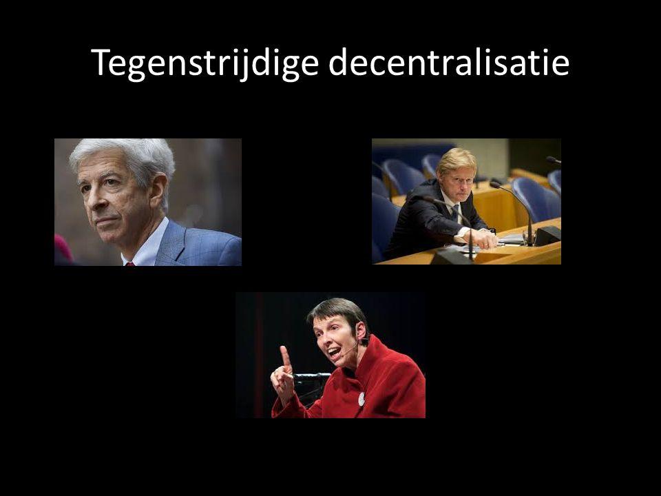 Tegenstrijdige decentralisatie