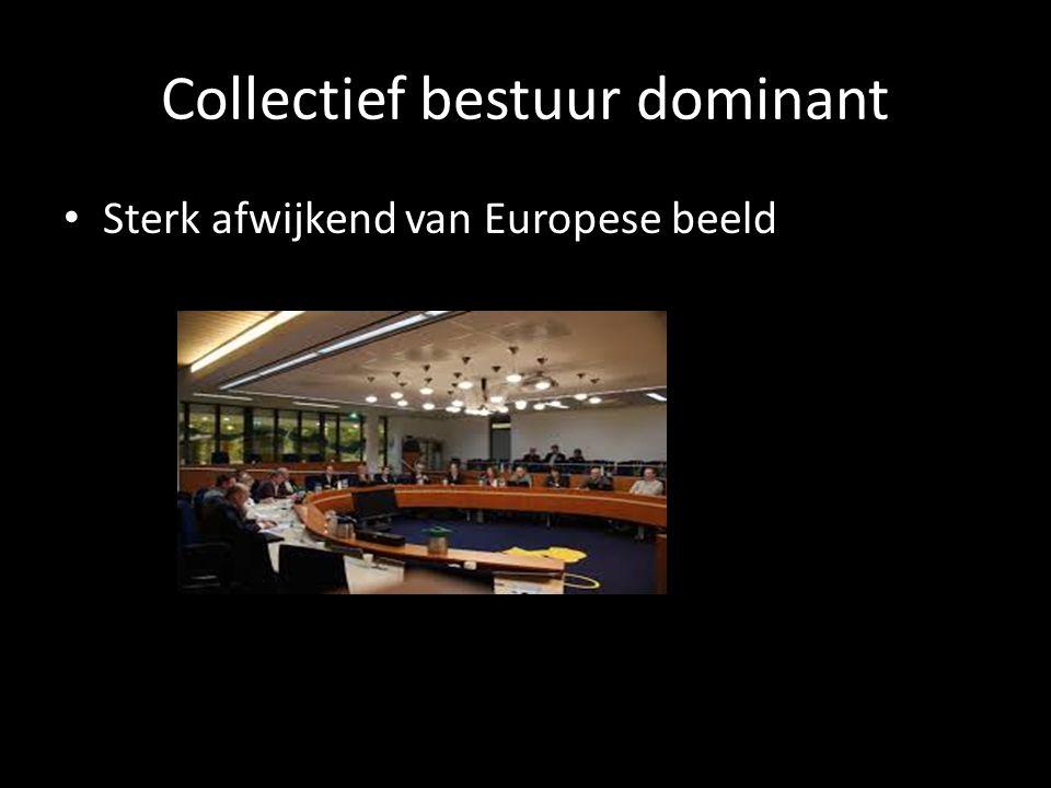 Collectief bestuur dominant Sterk afwijkend van Europese beeld