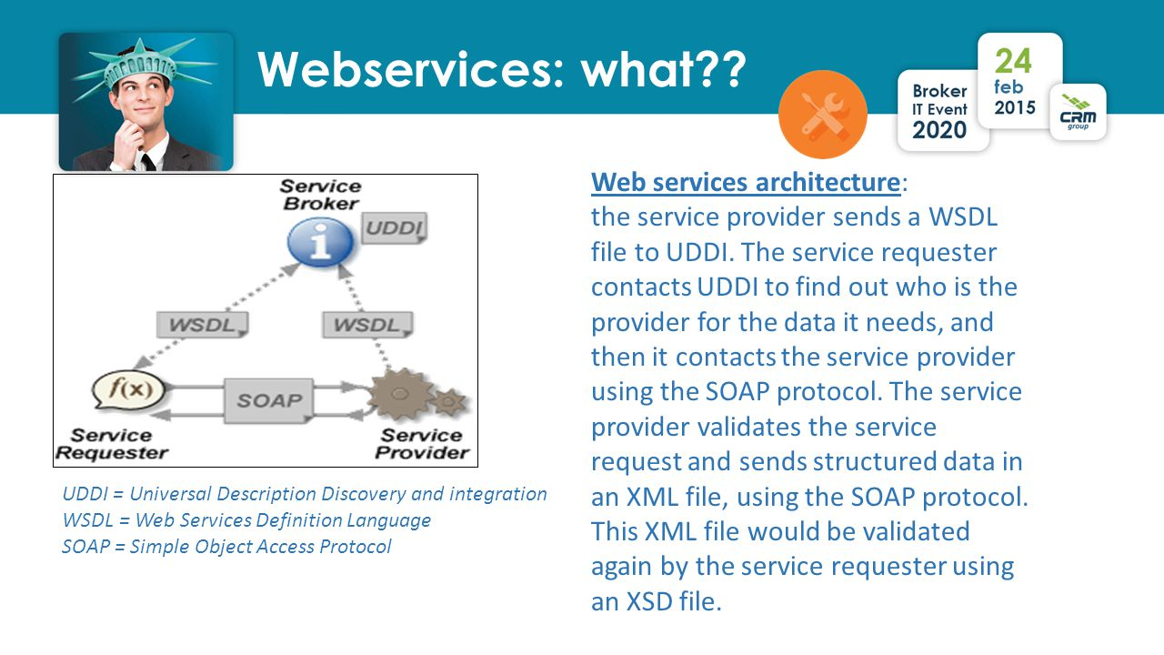 Webservices: what . .