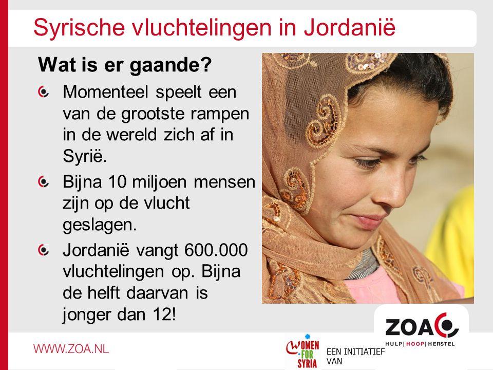 Syrische vluchtelingen in Jordanië Wat is er gaande? Momenteel speelt een van de grootste rampen in de wereld zich af in Syrië. Bijna 10 miljoen mense