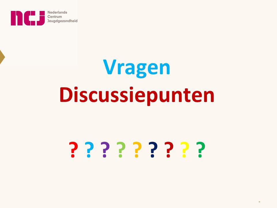 Vragen Discussiepunten ? ? ? ? ? ? ? ? ? *