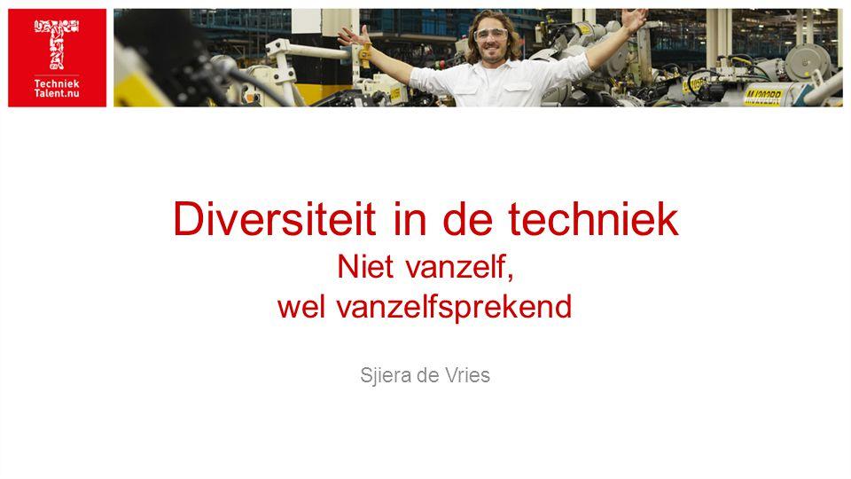 Diversiteit in de techniek Niet vanzelf, wel vanzelfsprekend Sjiera de Vries