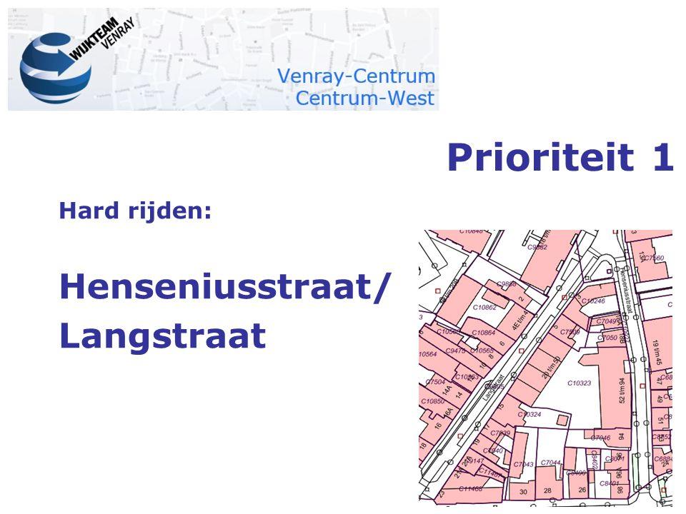 Prioriteit 1 Hard rijden: Henseniusstraat/ Langstraat