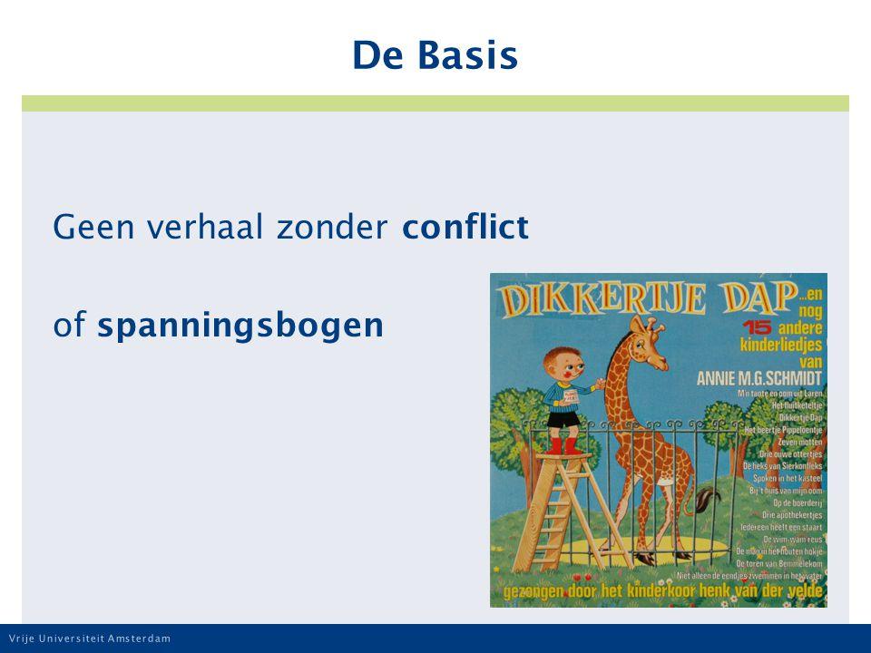 Vrije Universiteit Amsterdam De Basis Geen verhaal zonder conflict of spanningsbogen