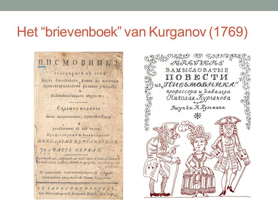 """Het """"brievenboek"""" van Kurganov (1769)"""