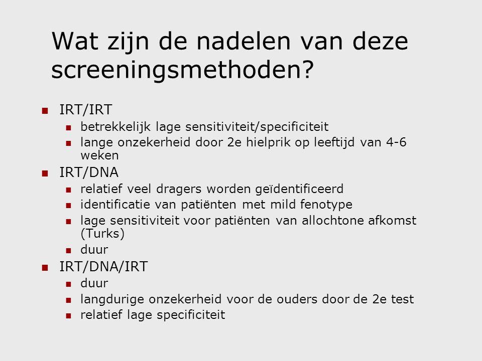 Wat zijn de nadelen van deze screeningsmethoden.