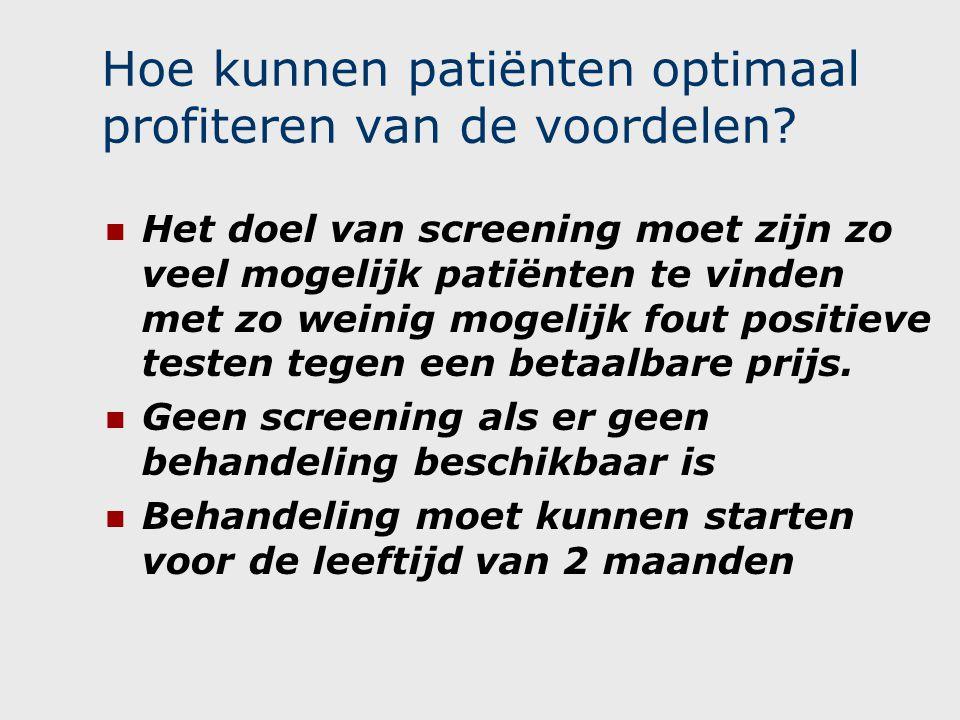 Hoe kunnen patiënten optimaal profiteren van de voordelen.