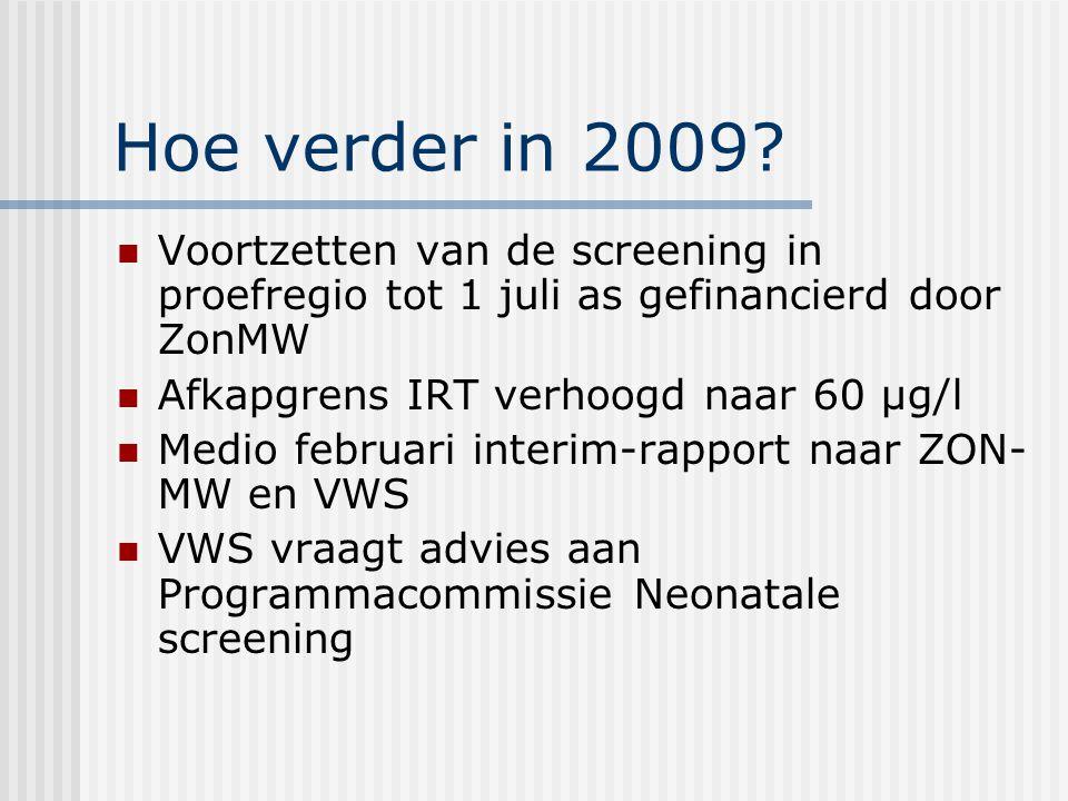 Hoe verder in 2009.