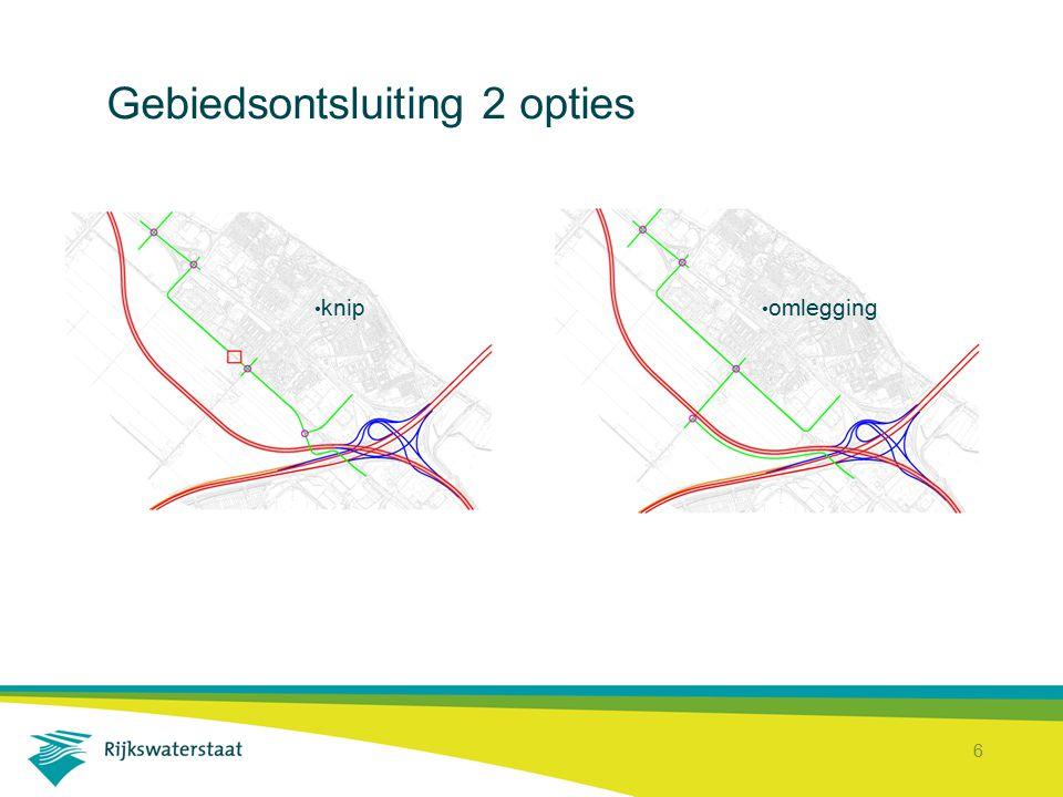 7 Gebiedsontsluiting met knip Schipholweg krijgt knip; verbinding naar Aalsmeer en Amstelveen voor langzaam verkeer nagenoeg onveranderd; Schipholweg is geen doorgaande weg voor autoverkeer, Aalsmeer en Amstelveen via A9.