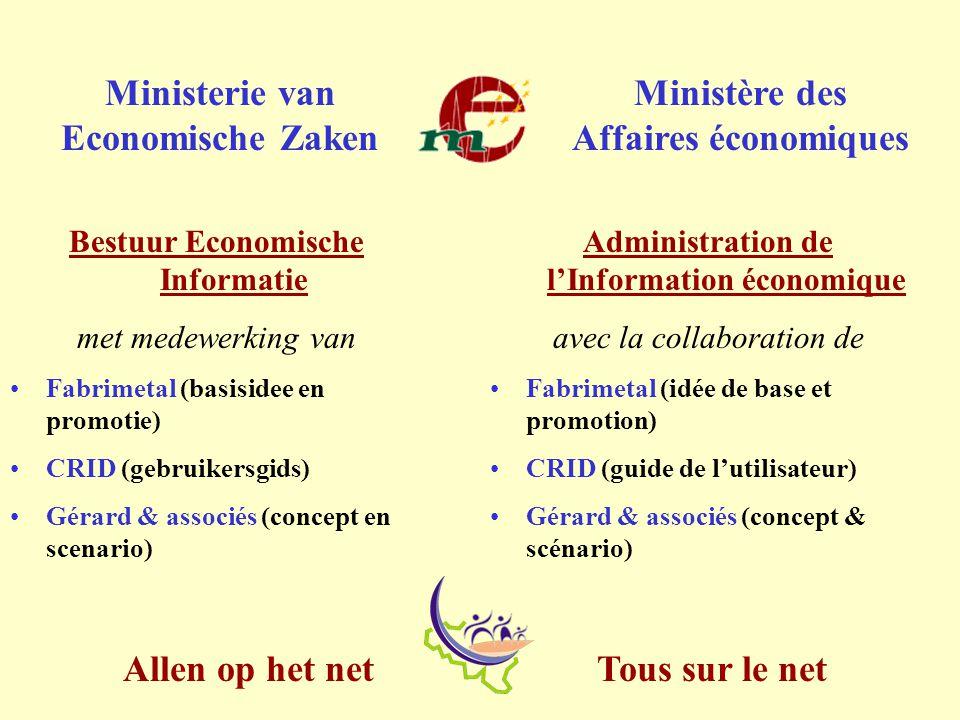 Tous sur le net Allen op het net Ministerie van Economische Zaken Ministère des Affaires économiques http://mineco.fgov.be