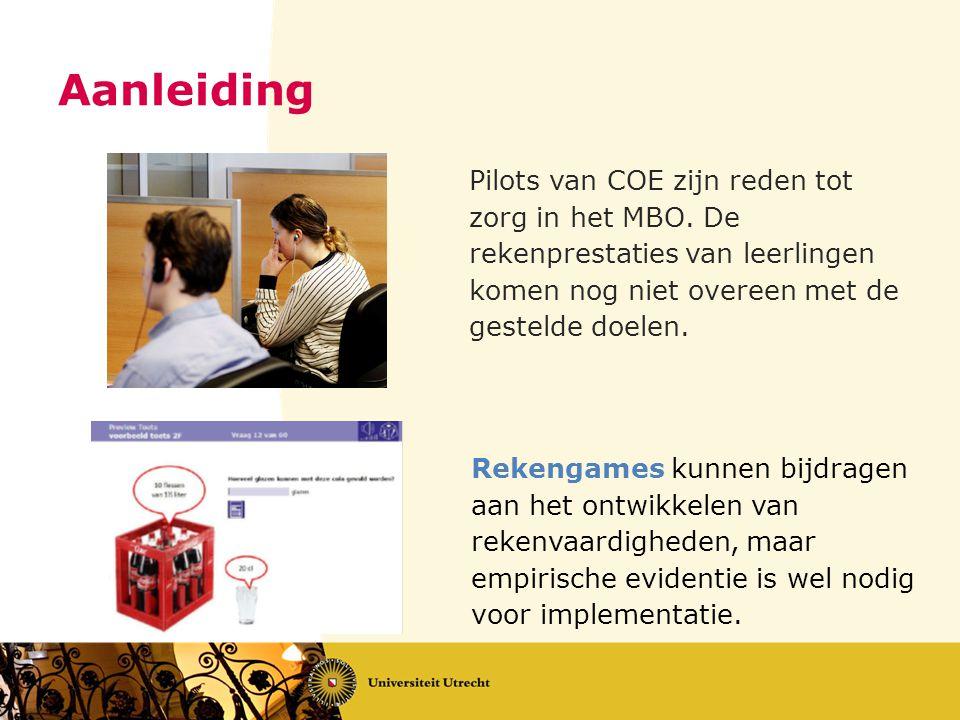 Aanleiding Rekengames kunnen bijdragen aan het ontwikkelen van rekenvaardigheden, maar empirische evidentie is wel nodig voor implementatie. Pilots va