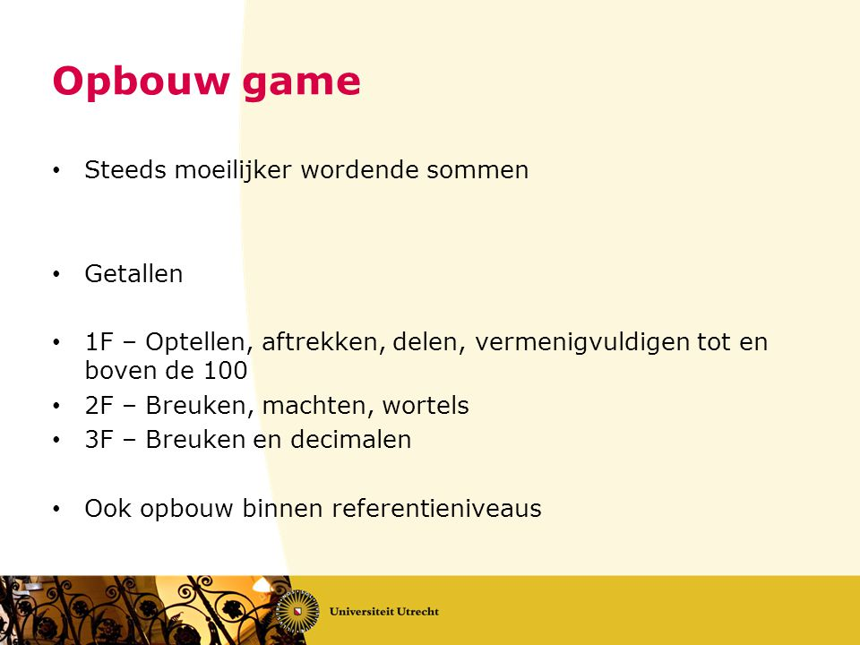 Opbouw game