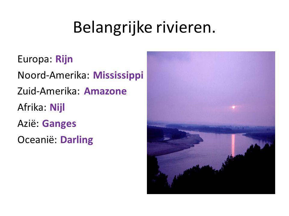 Belangrijke rivieren.