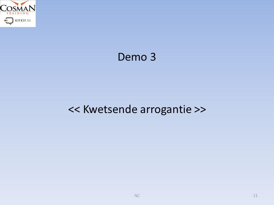 Demo 3 > 11NC