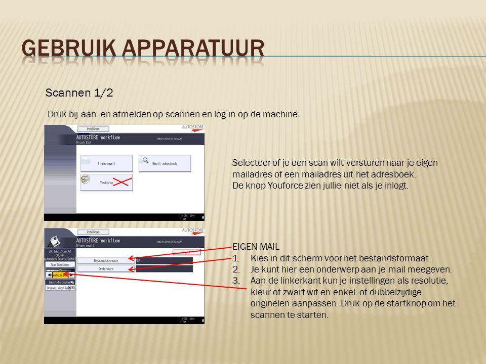 Scannen 2/2 MAIL UIT ADRESBOEK 1.In het volgende scherm kun je een ontvanger uit het adresboek van Amstelring zoeken door de voornaam in te typen.