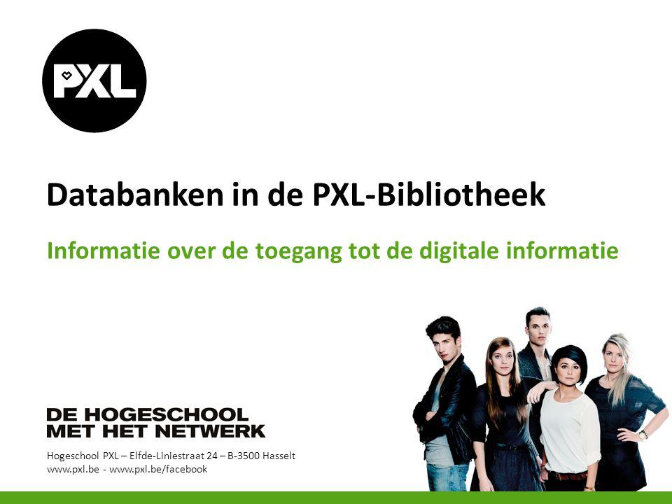 Databanken van op de PXL-campus