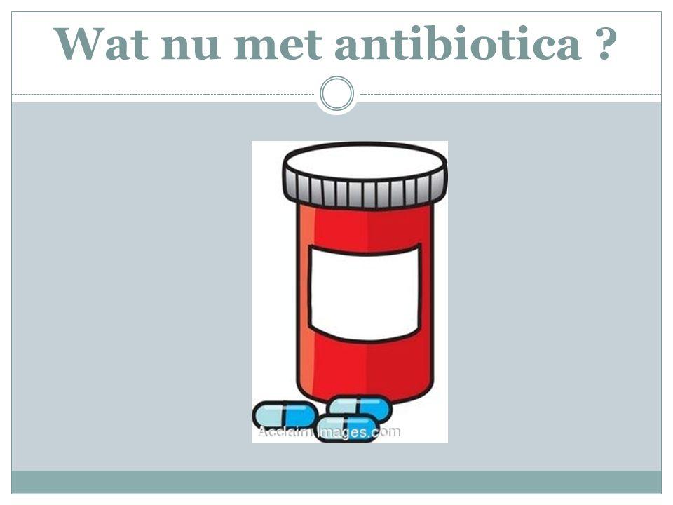 Wat nu met antibiotica ?