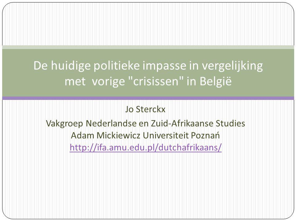 Jo Sterckx Vakgroep Nederlandse en Zuid-Afrikaanse Studies Adam Mickiewicz Universiteit Poznań http://ifa.amu.edu.pl/dutchafrikaans/ De huidige politi