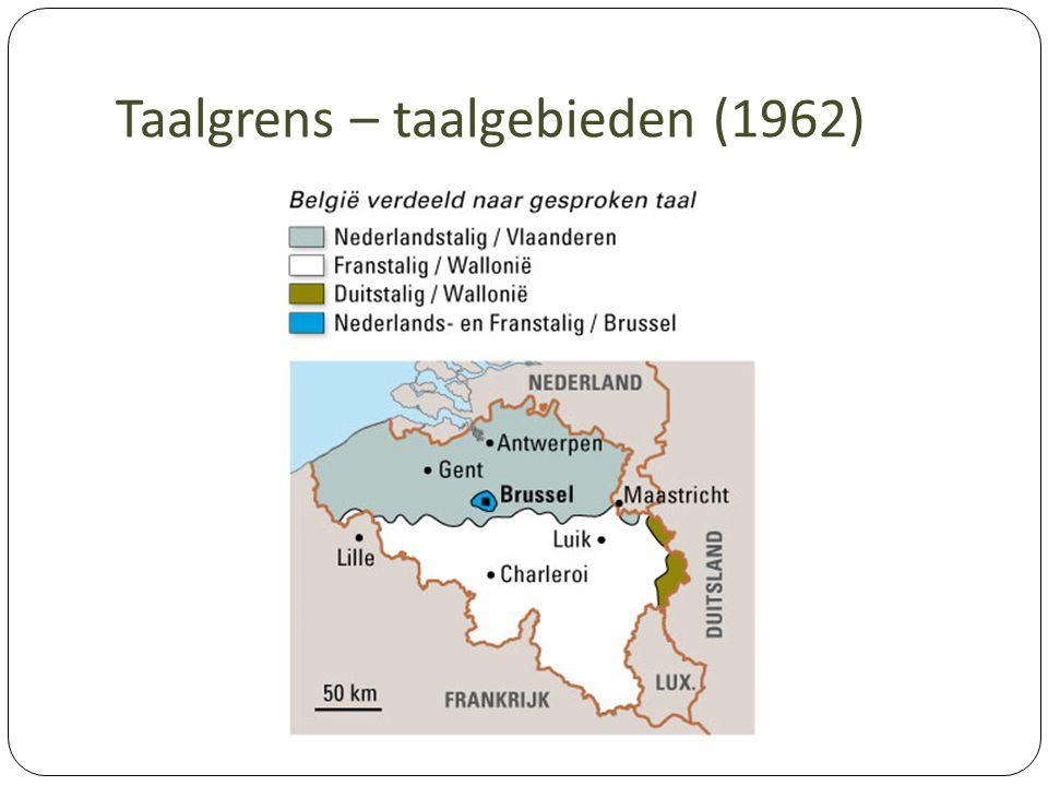 Taalgrens – taalgebieden (1962)