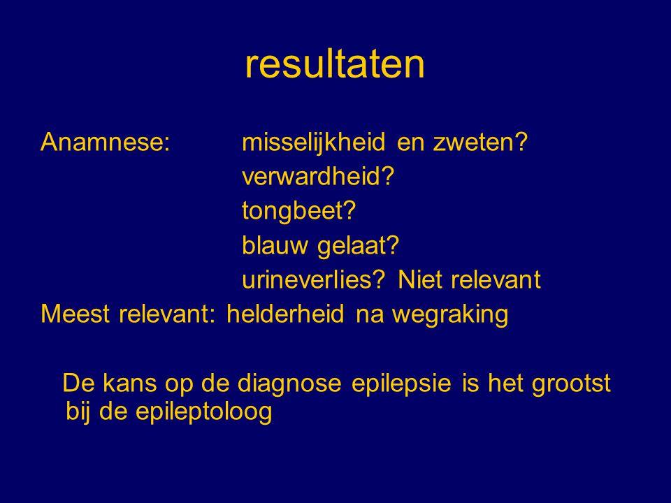 conclusie De diagnose epilepsie moet altijd op basis van meerdere gegevens gesteld worden.