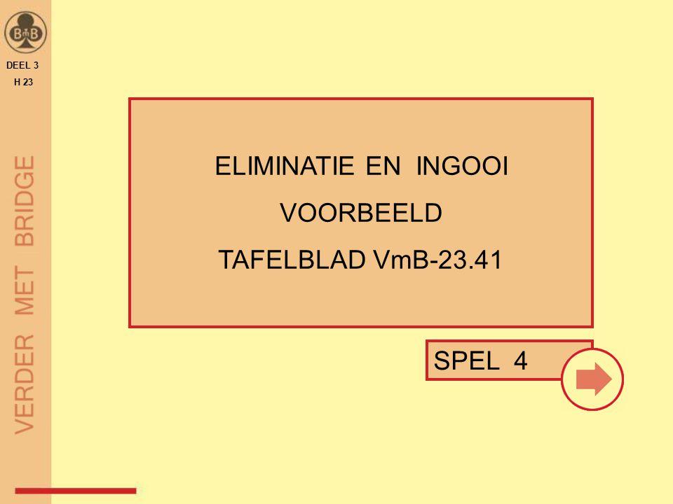 ELIMINATIE EN INGOOI VOORBEELD TAFELBLAD VmB-23.41 DEEL 3 H 23 SPEL 4