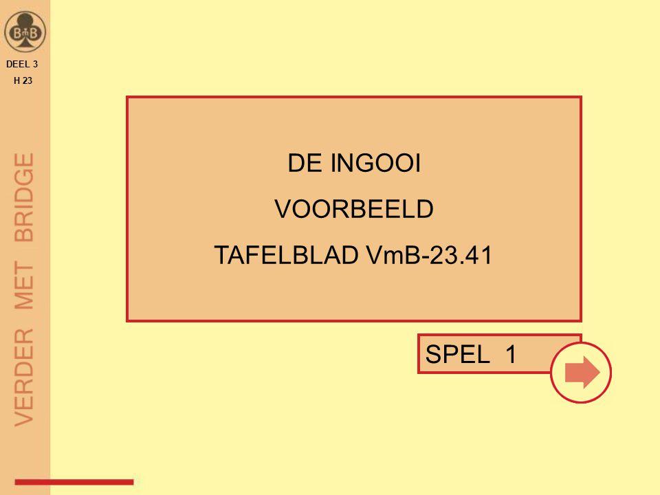 OEFENEN MET TAFELBLAD VmB-23.71 DEEL 3 H 23 OEFENING 3