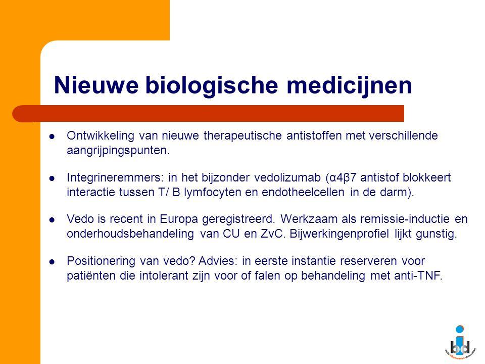 Nieuwe biologische medicijnen Ontwikkeling van nieuwe therapeutische antistoffen met verschillende aangrijpingspunten. Integrineremmers: in het bijzon