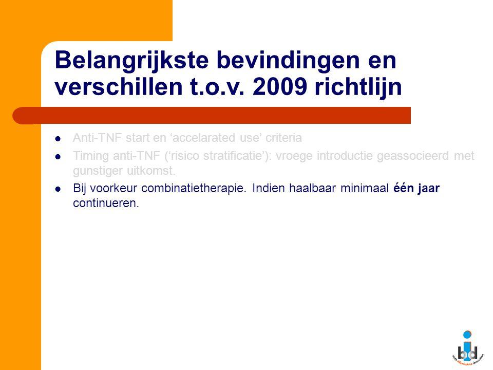Belangrijkste bevindingen en verschillen t.o.v.