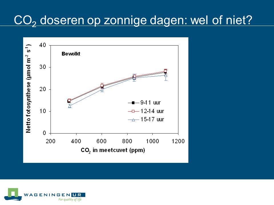 CO 2 doseren op zonnige dagen: wel of niet