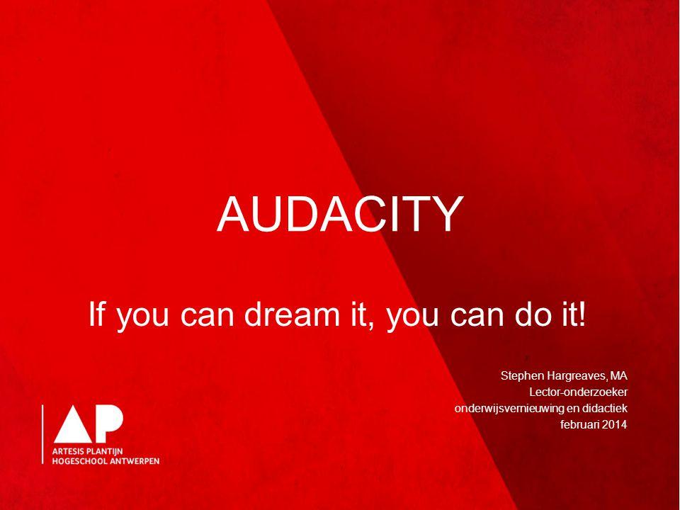 What's on.rondvraag – Wat willen jullie met Audacity gaan doen.
