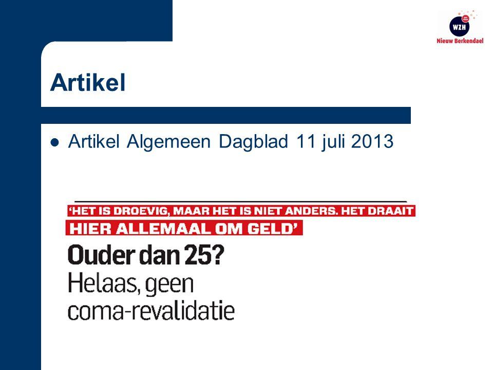 Artikel Artikel Algemeen Dagblad 11 juli 2013
