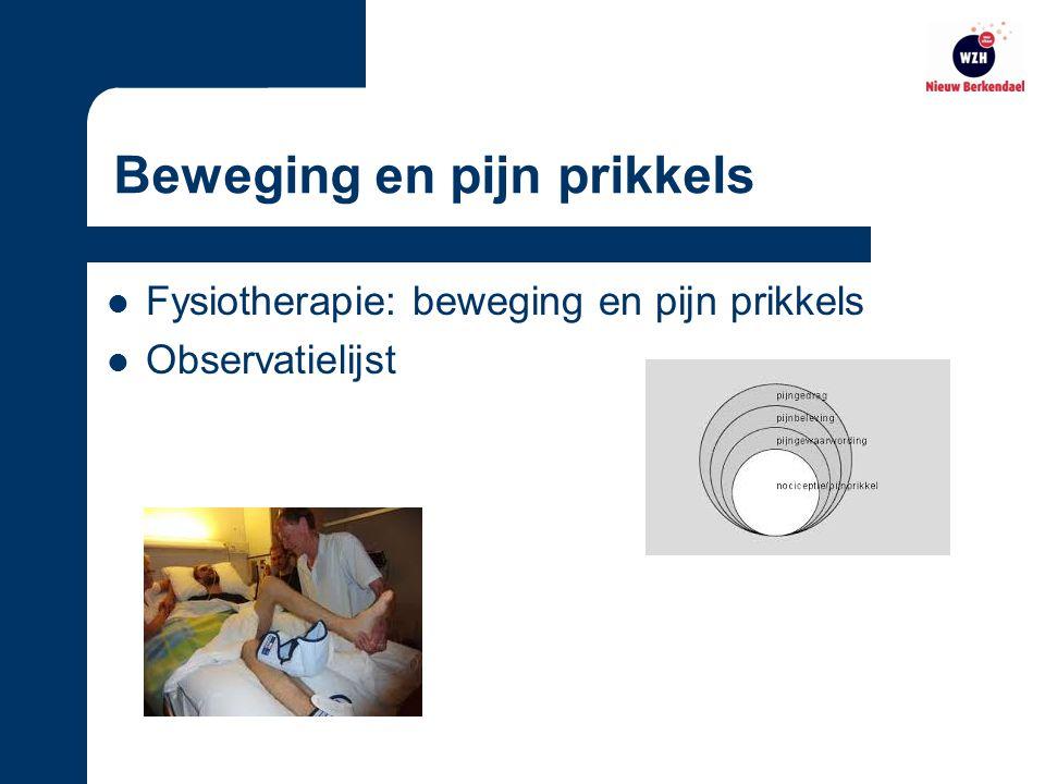 Beweging en pijn prikkels Fysiotherapie: beweging en pijn prikkels Observatielijst
