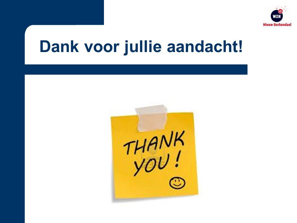 Dank voor jullie aandacht!