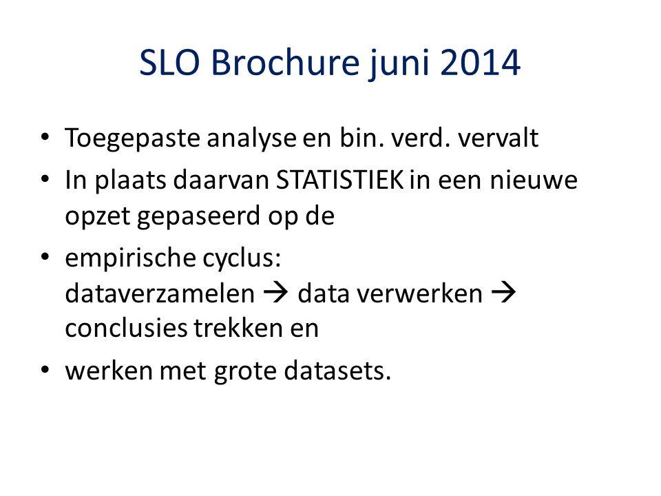 SLO Brochure juni 2014 Toegepaste analyse en bin.verd.