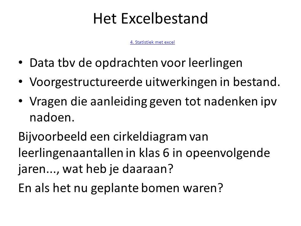 Het Excelbestand 4.Statistiek met excel 4.