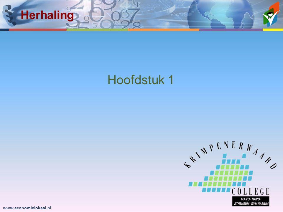 www.economielokaal.nl Hoofdstuk 1 Herhaling