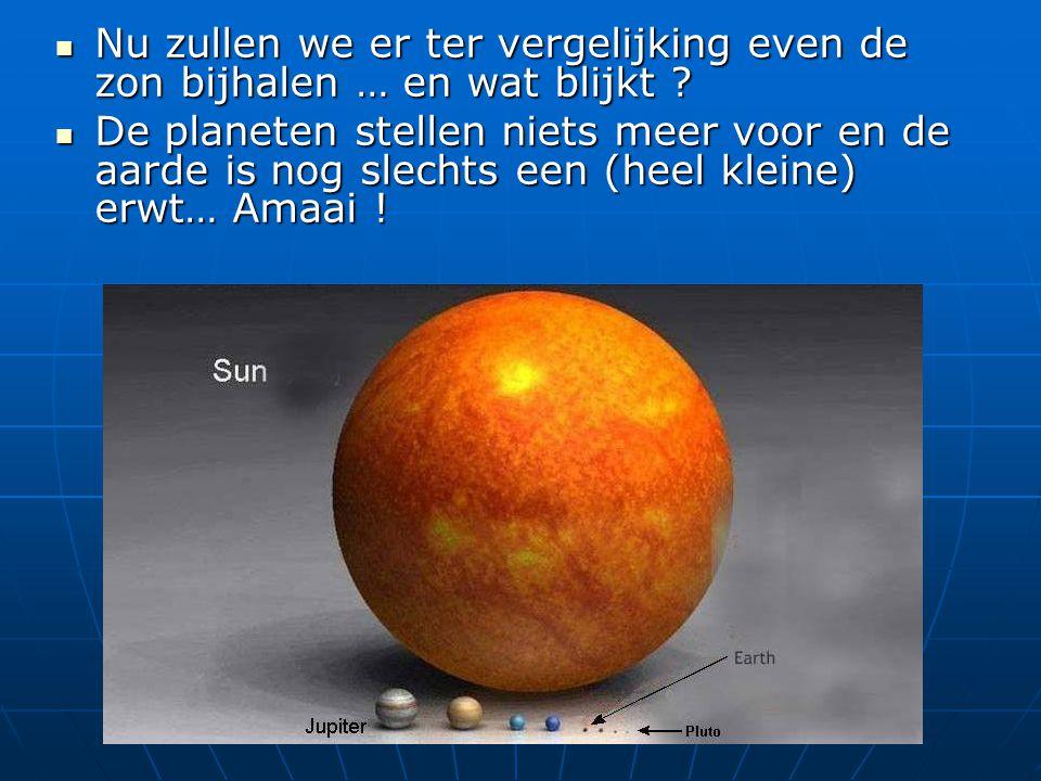 Nu zullen we er ter vergelijking even de zon bijhalen … en wat blijkt .