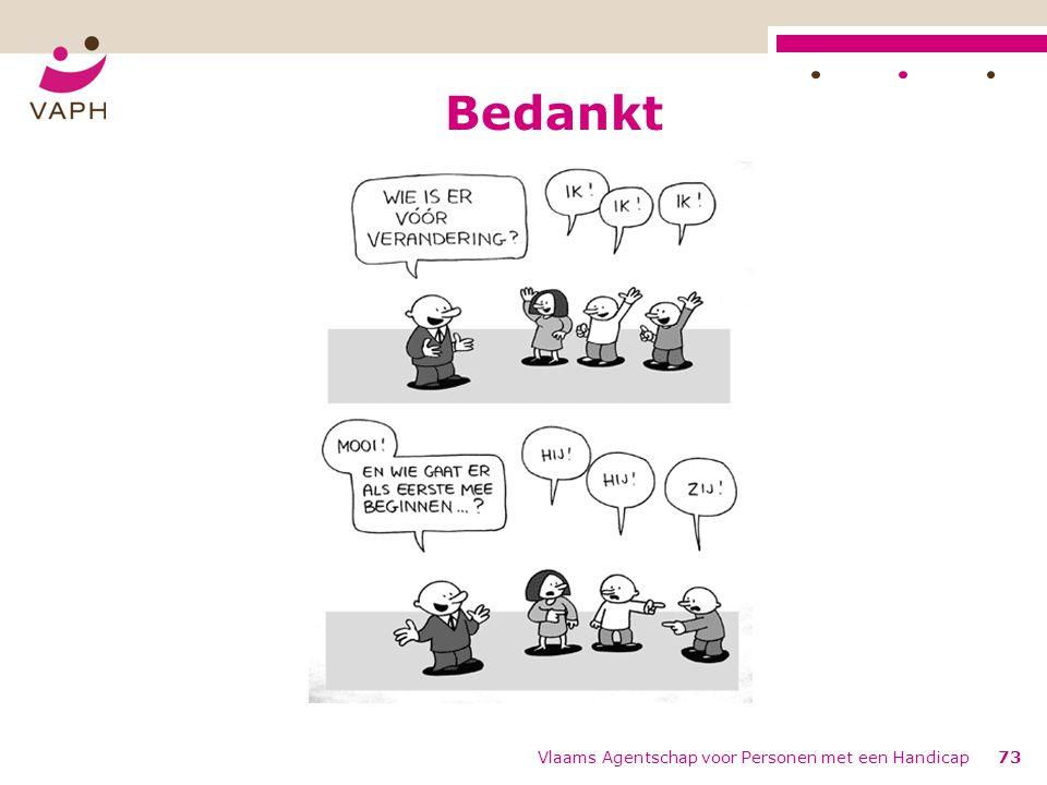 Bedankt Vlaams Agentschap voor Personen met een Handicap73