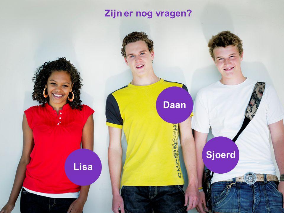 Lisa Daan Sjoerd Zijn er nog vragen?