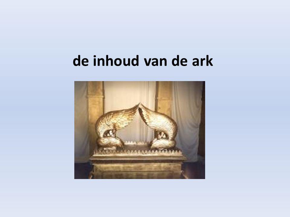 de inhoud van de ark