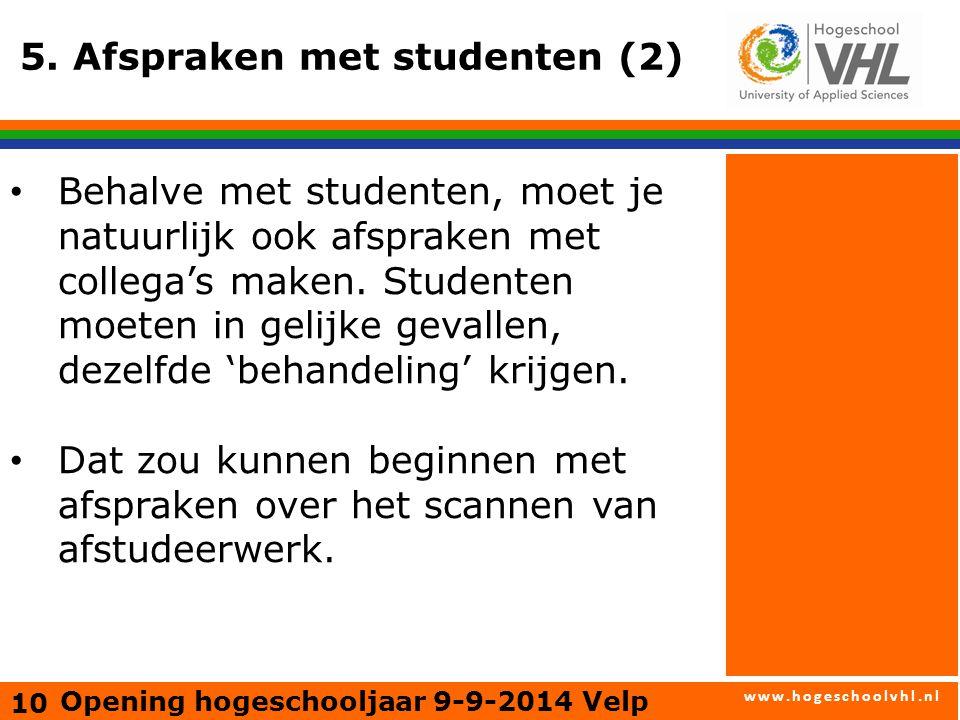 www.hogeschoolvhl.nl 5.