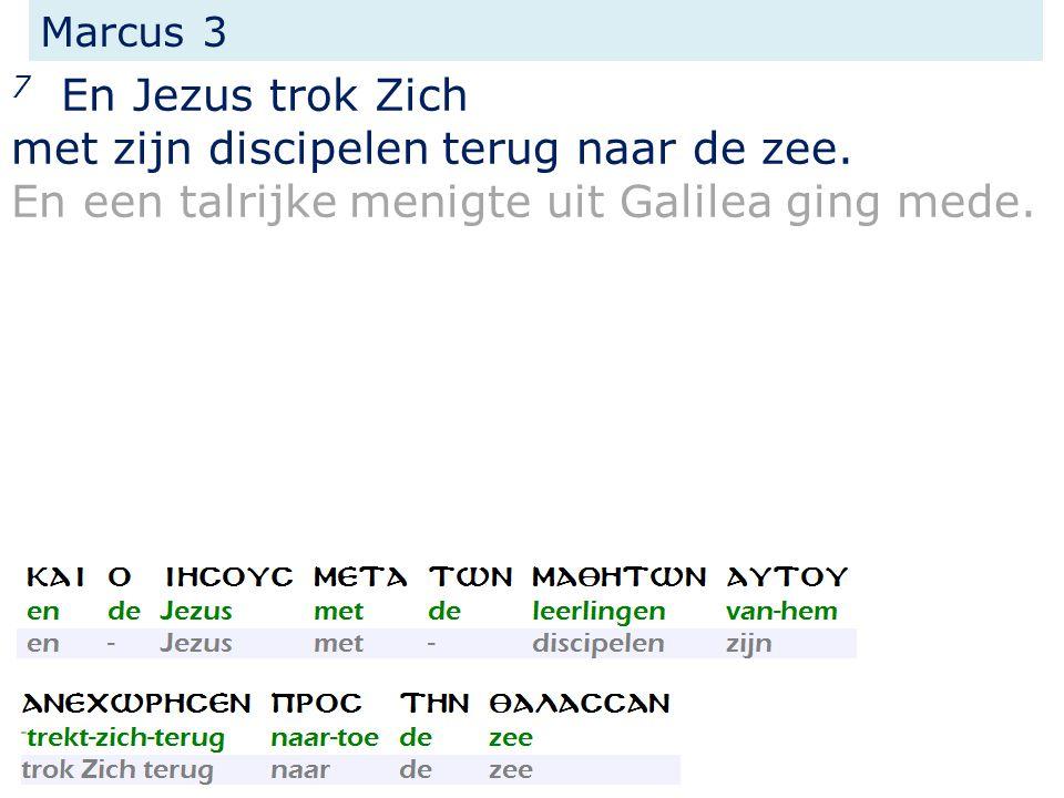 Marcus 3 7 En Jezus trok Zich met zijn discipelen terug naar de zee.