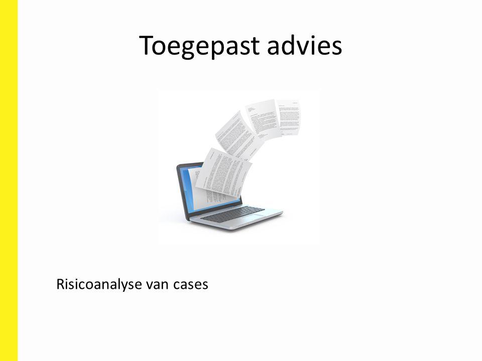 Toegepast advies Risicoanalyse van cases